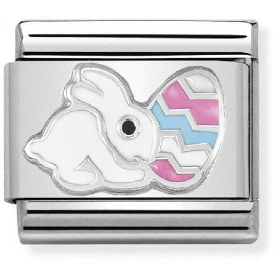 Easter Bunny Silver Charm