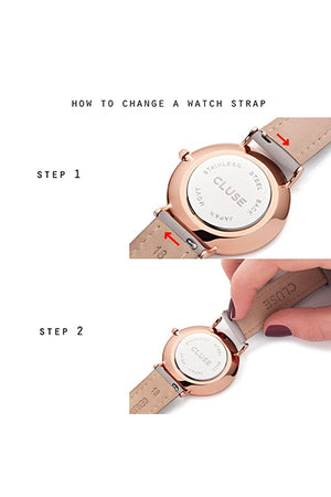 La Boheme Mesh Rose Gold/White Watch