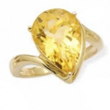 Citrine Teardrop Ring