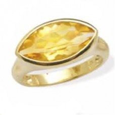 Citrine Marquise Ring