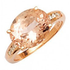 Morganite Oval Rosegold Ring