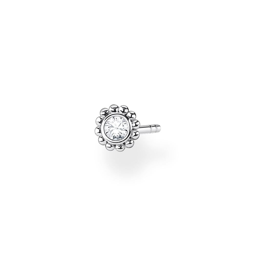 Flower Ear Stud Silver (Single)