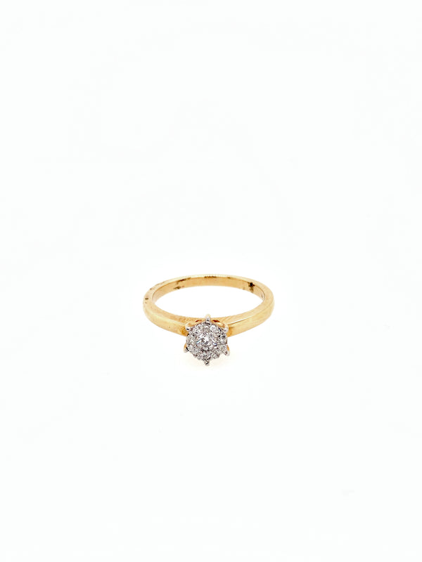 Quarter Carat Cluster Diamond Ring