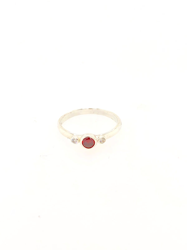 Silver Birthstone Ring - January