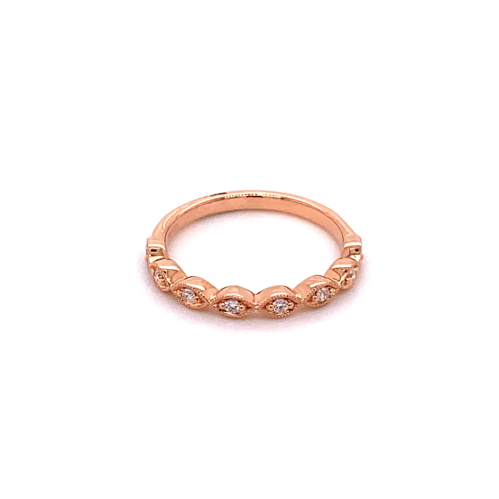 Marquise Rosegold Stacker Ring