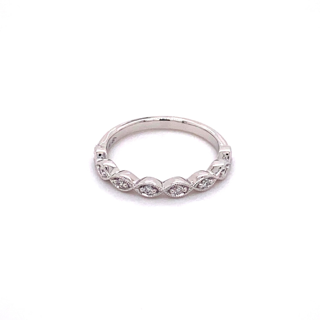 Marquise White Gold Stacker Ring