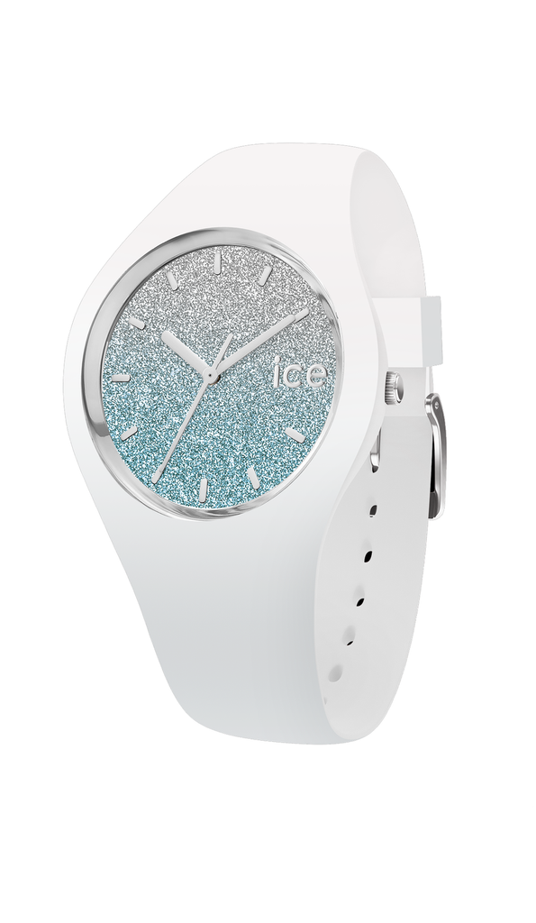 Lo White Blue Ice Watch