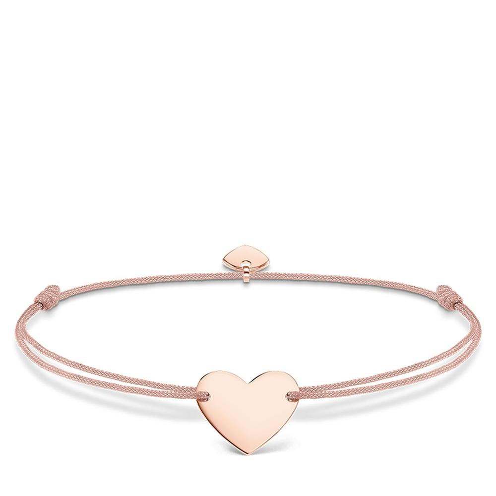 Little Secret Rosegold Heart Bracelet in Pink