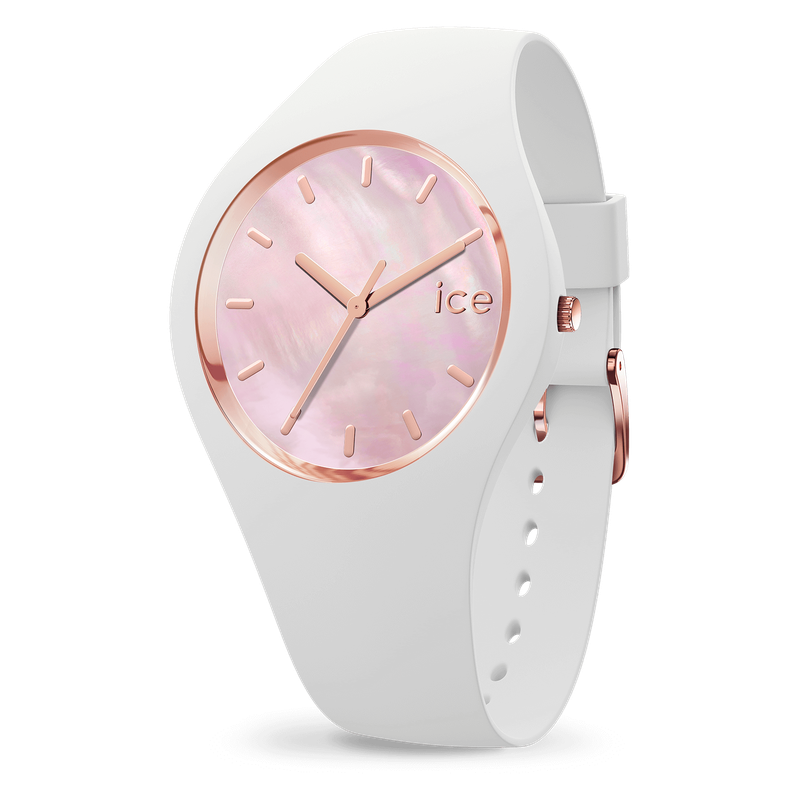 Ice Pearl White Pink Watch