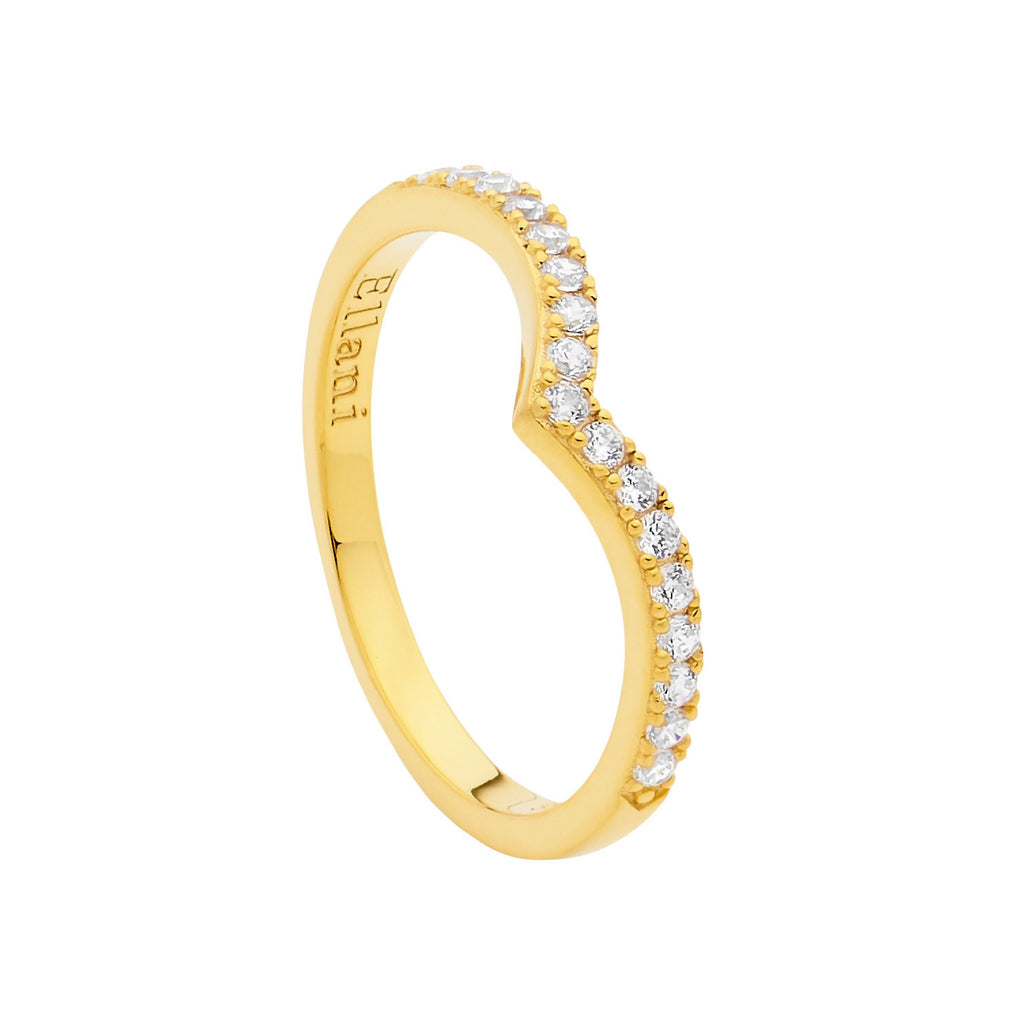 Wishbone CZ Ring - 3 Colours