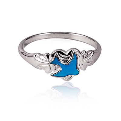 Silver Bluebird Childrens Ring