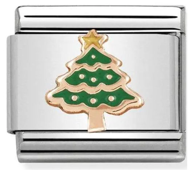 Christmas Tree Rosegold Charm