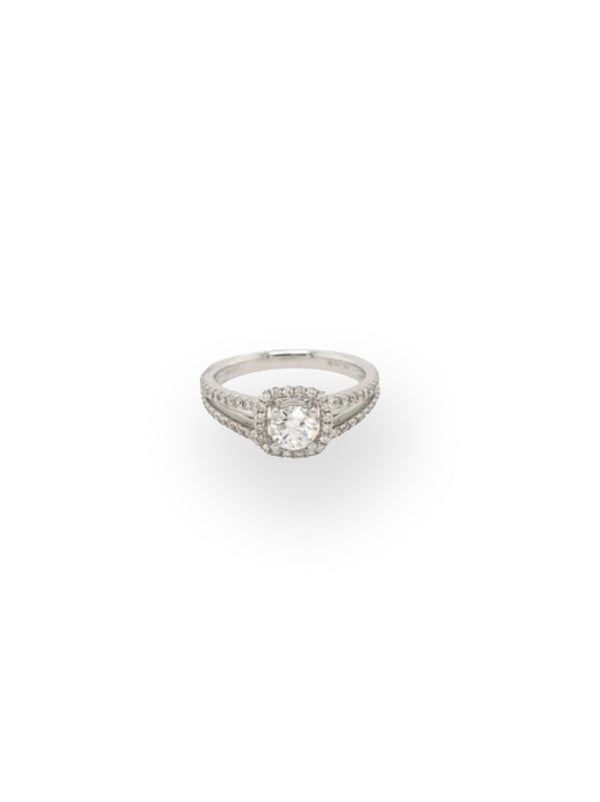 Half a Carat Diamond White Gold Ring