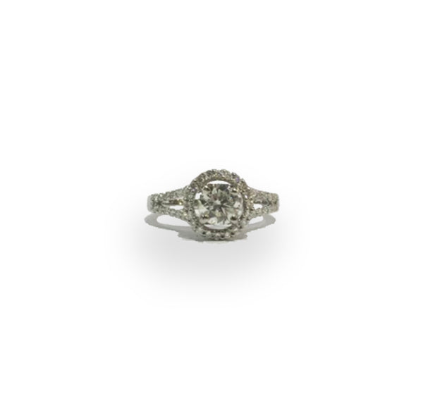 White Gold 0.73ct Diamond Ring