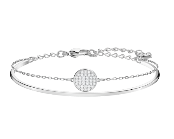 Ginger Bangle in Rhodium