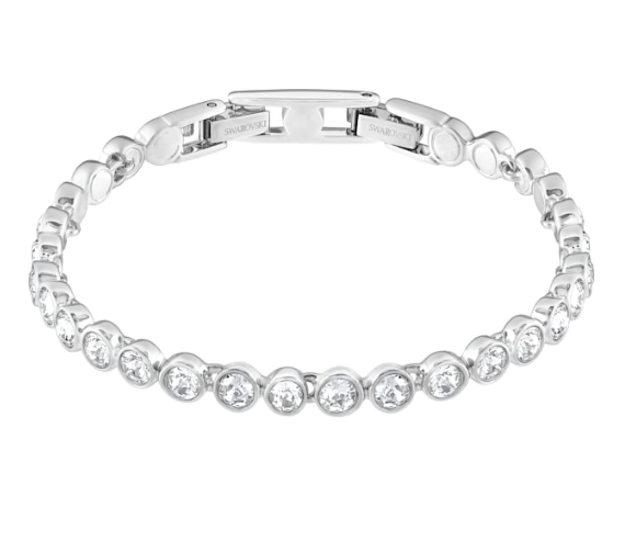 Tennis Bracelet in Rhodium