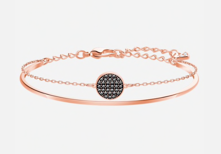 Swarovski Ginger Black Rosegold Bangle