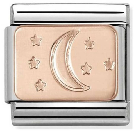 Nomination Moon and Stars Rosegold Charm