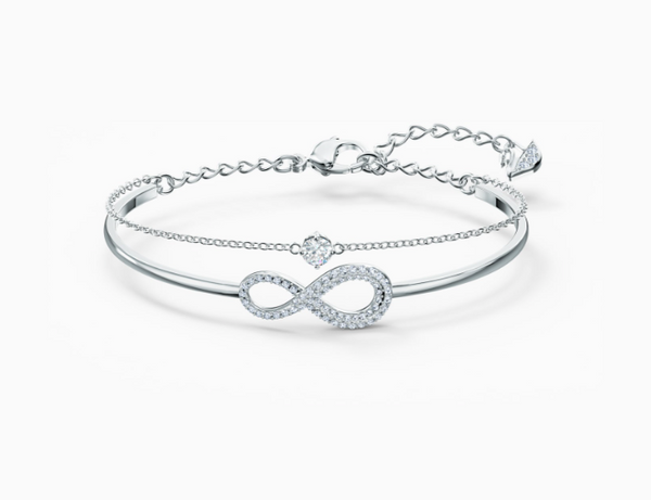 Infinity Rhodium Bangle