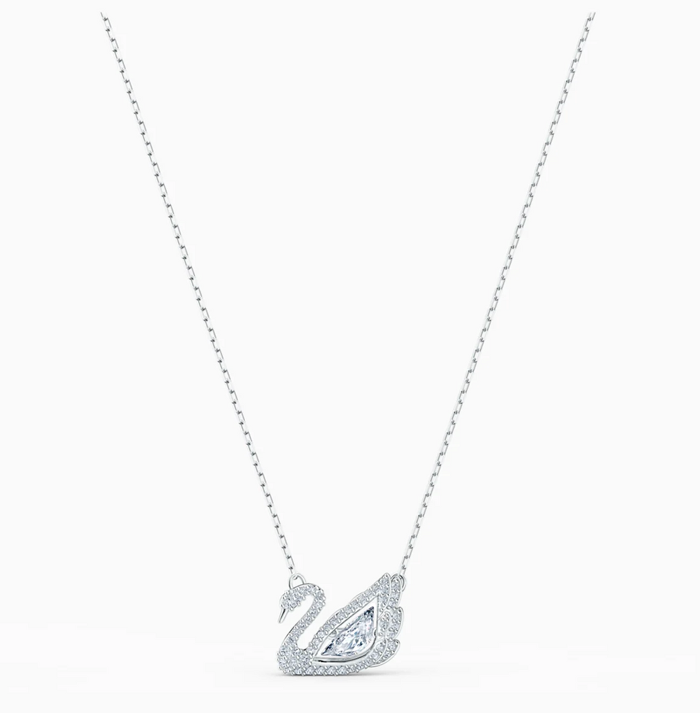 Dancing Swan White Necklace