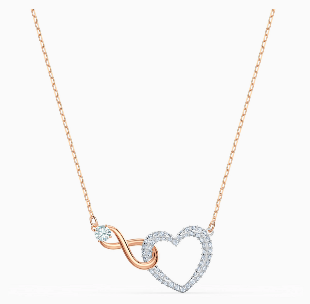 Infinity Heart Mixed Metal Finish Necklace