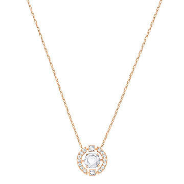 Sparkling Dance Round Necklace in Rosegold