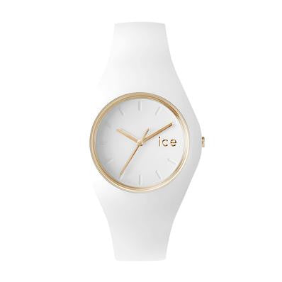 Ice Glam Yellow Gold White Watch