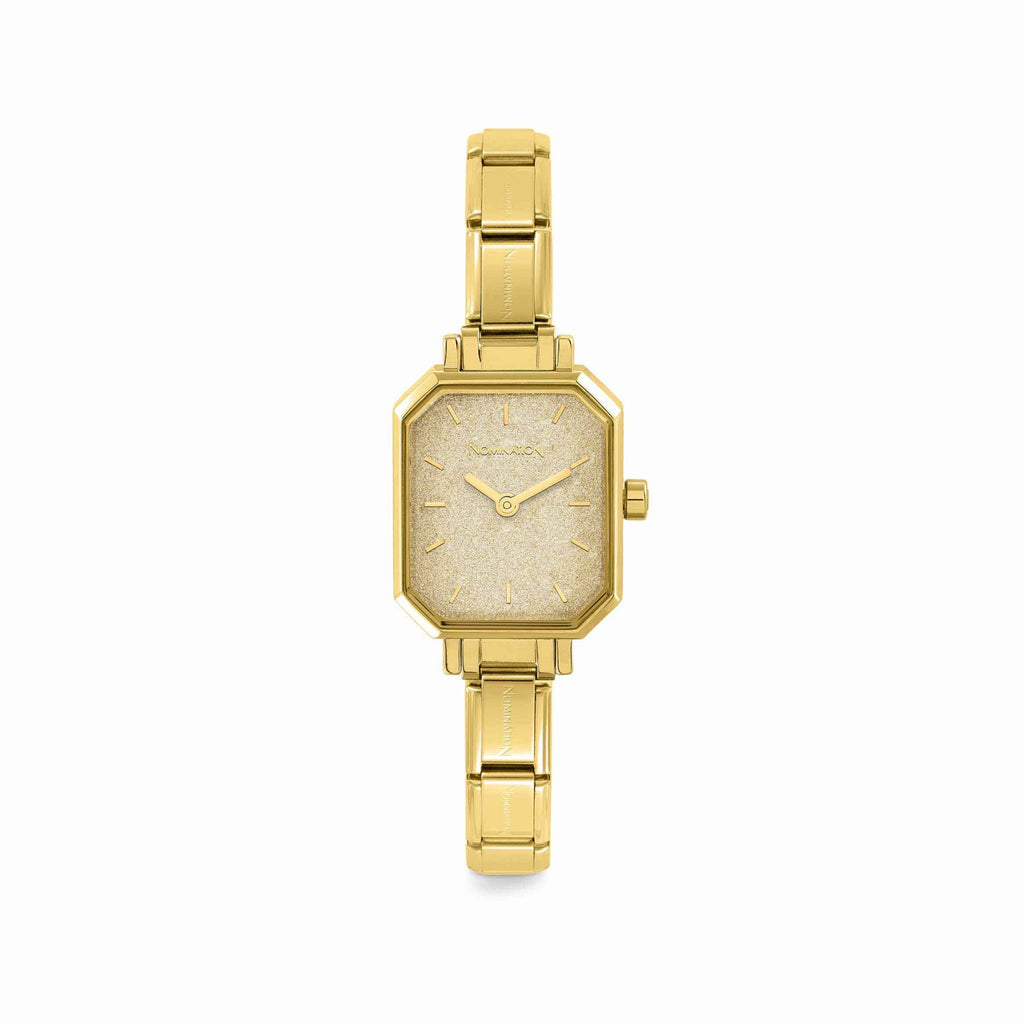 Paris Watch with Gold Glitter Dial