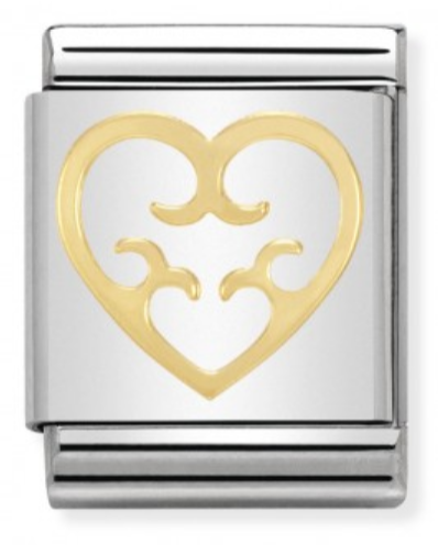 BIG Charm Heart Symbol in Gold