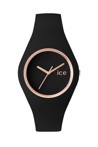 Ice Glam Rose Gold Black Watch
