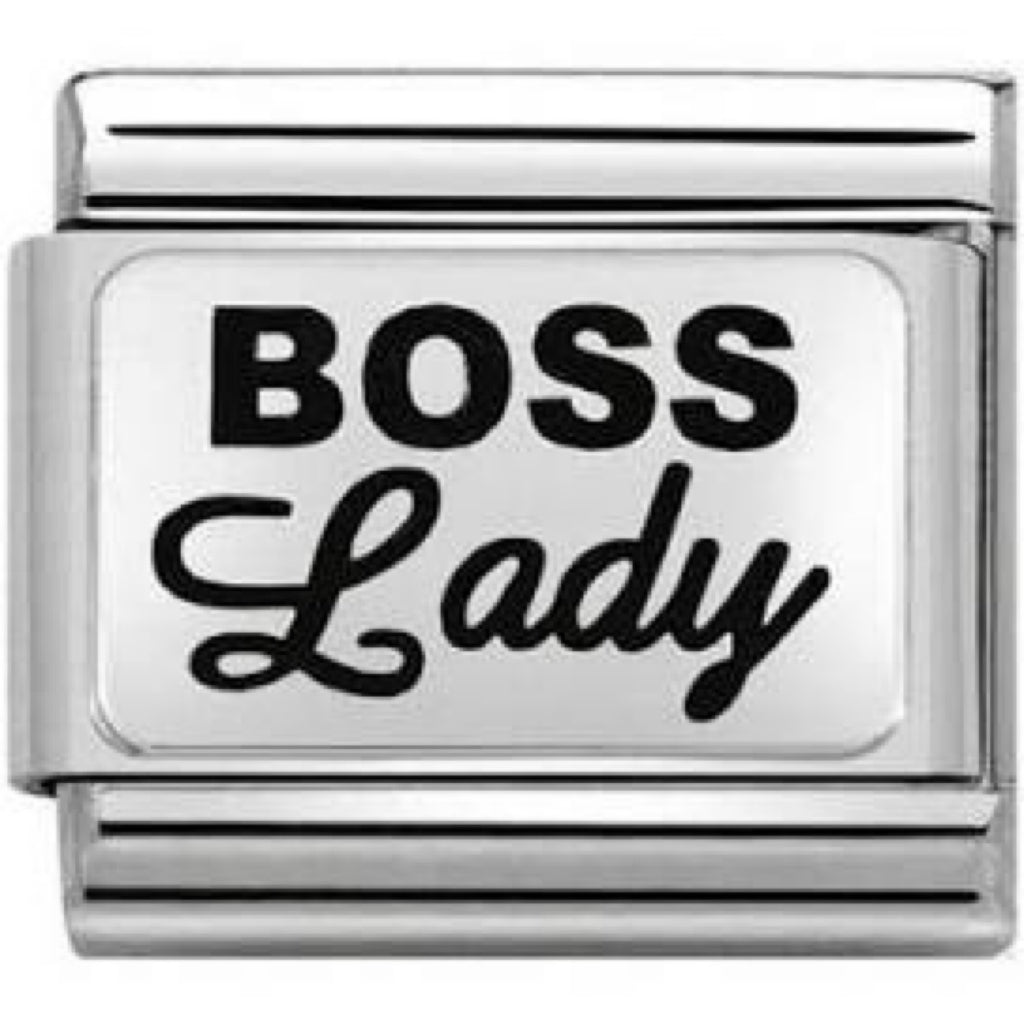 Boss Lady Silver Charm