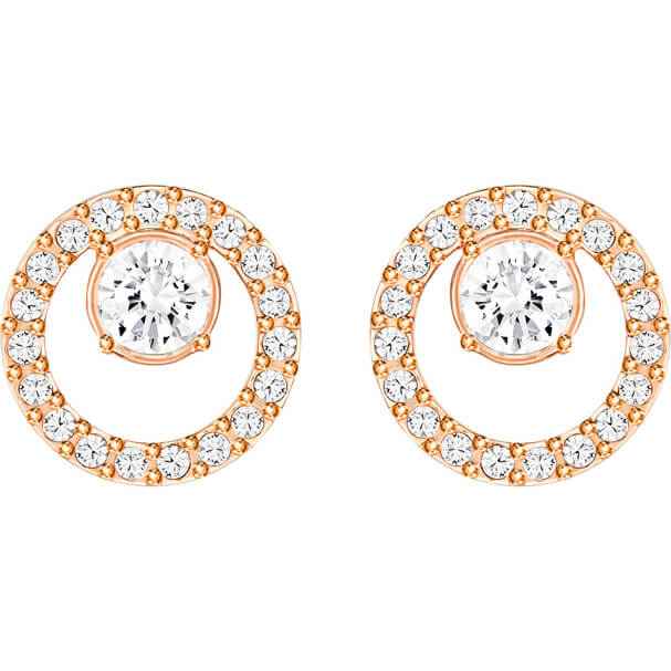Creativity Circle Rosegold Earrings