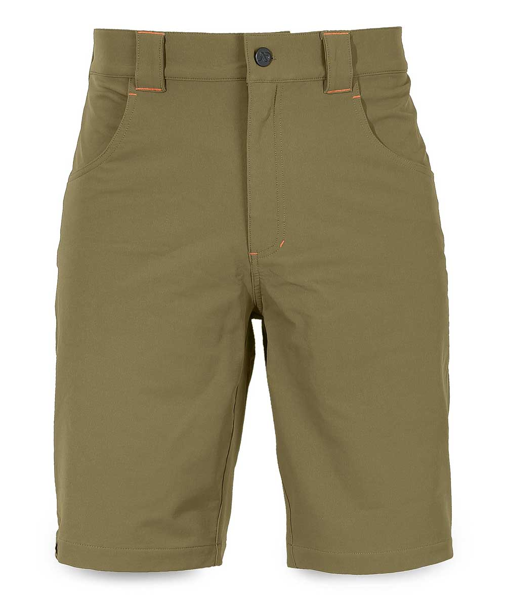 SHOWNO Men Sport Outdoor Casual Solid Color Multi Pockets Cargo Shorts Without Belt