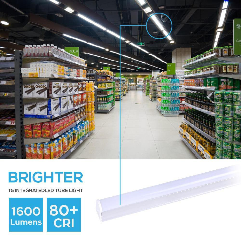 T5 LED Tube Light Integrated Single Fixture Frosted Cover 20-pack-LUMINOSUM Officail Online Store