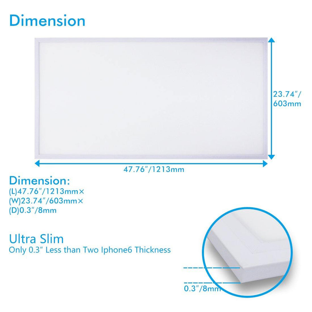 LED Flat Panel Lights 2x4 Ft 6000k 5-pack - LUMINOSUM