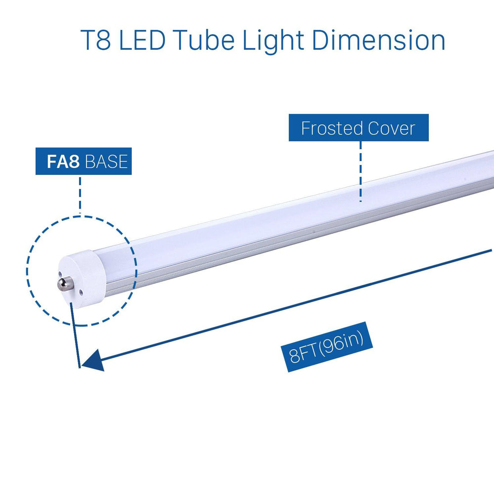 T8/T10/T12 LED Tube Lights 8ft 40W FA8 Frosted Cover 20-pack-LUMINOSUM Officail Online Store