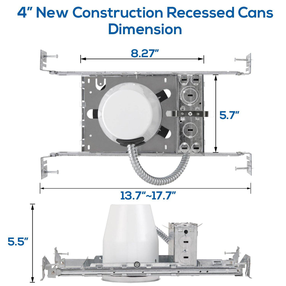 4 Inch New Construction Recessed Can Housing 8-pack-LUMINOSUM Officail Online Store