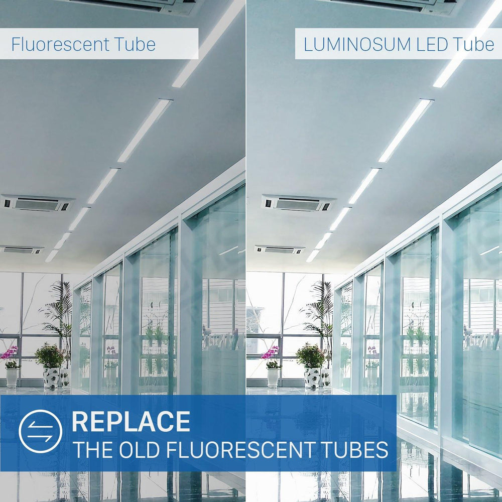 T8/T10/T12 LED Light Tube 20W Frosted Cover 10-pack-LUMINOSUM Officail Online Store
