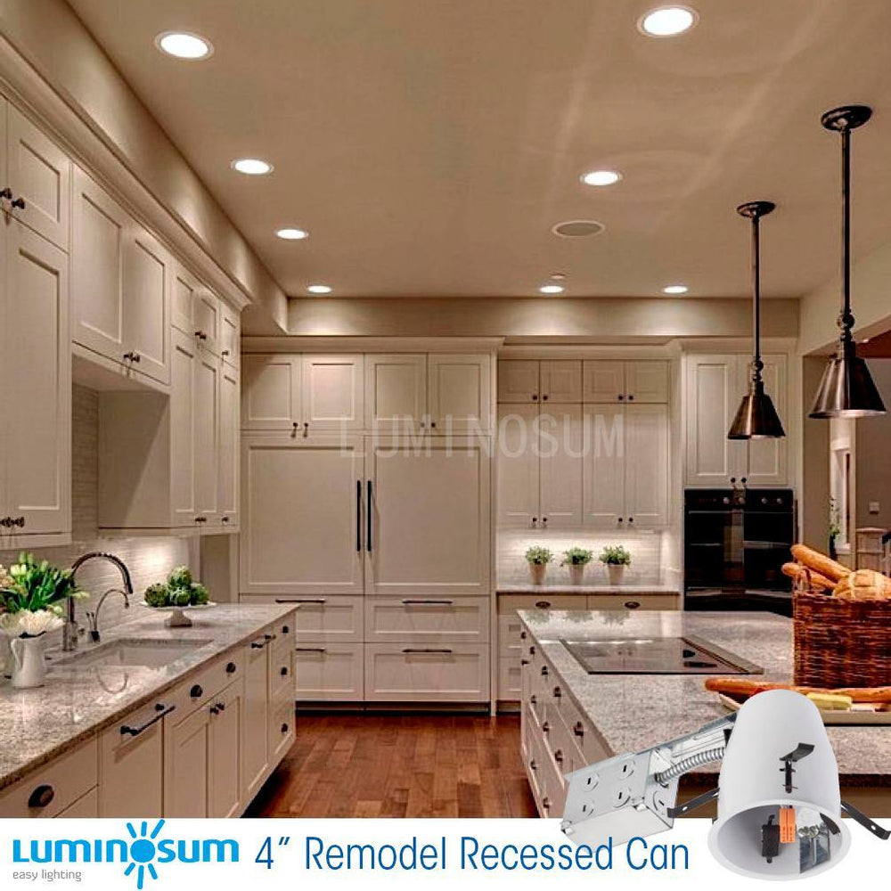 4 Inch Remodel Recessed Can Housing 8-pack-LUMINOSUM Officail Online Store