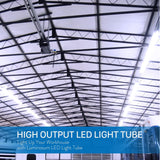 T8 LED Tube Light 8ft 40W Single Pin Clear Cover 20-pack-LUMINOSUM Officail Online Store