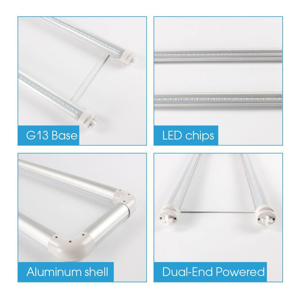 T8 T12 U Bent LED Tube Lights 20W 2ft x 2ft Clear Cover 10-pack-LUMINOSUM Officail Online Store