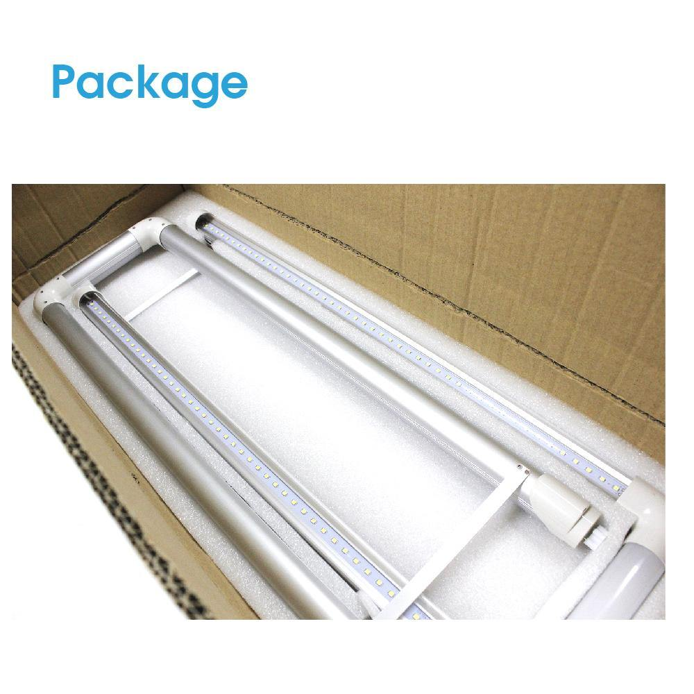 T8 T12 U-Bend LED Tube Light 2x2 FT 20W Frosted Cover 10-pack-LUMINOSUM Officail Online Store