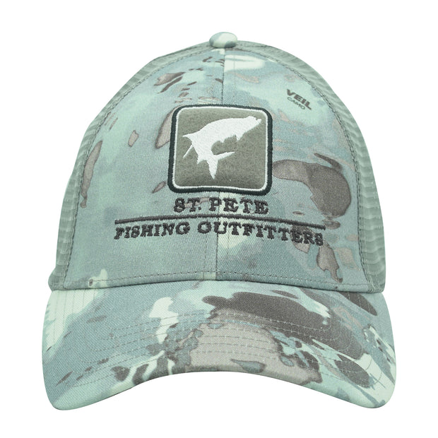 SPFO Cloud Camo Grey Simms Tarpon Icon Trucker