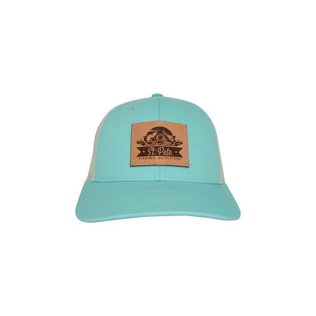 SPFO Blue/Birch Leather Patch Hat
