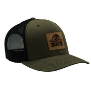 SPFO Army Green Leather Patch Hat