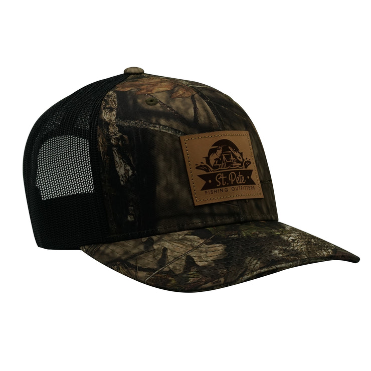 SPFO Camo Leather Patch Hat