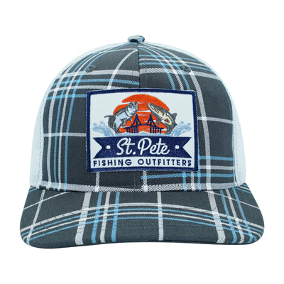 SPFO Grey Plaid Patch Hat