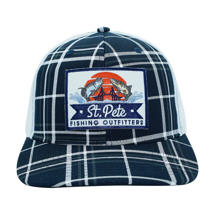 SPFO Navy Blue Plaid Patch Hat