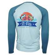 Skinny Water Culture Clearwater Raglan Grey/Blue