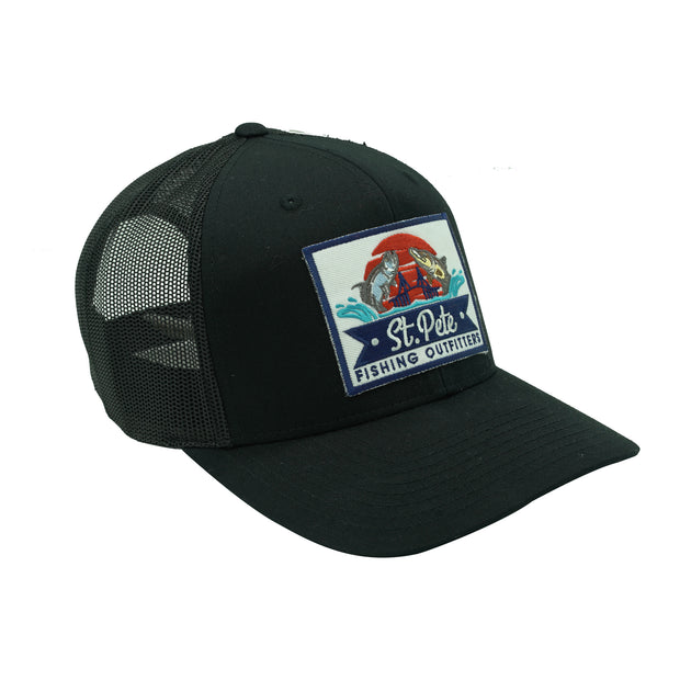 SPFO Black Mesh Patch Hat